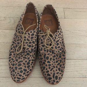 DV Dolce Vita Leopard Lace Up Loafers